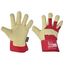 Rękawice wzmacniane skórą...